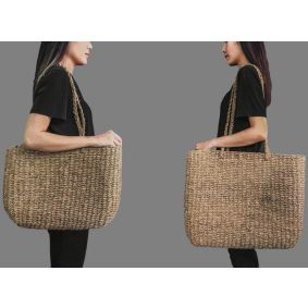 "IN STOCK! ""Frankie"" Thick Seagrass Bags"