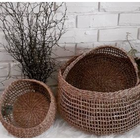 """IN STOCK! New Look """"Emily"""" Seagrass Storage Baskets Set of 3"""
