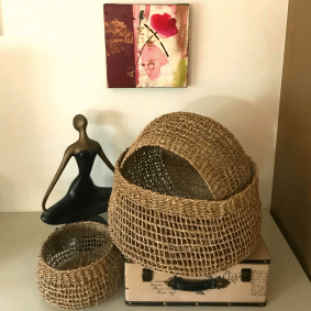 """Emily"" Seagrass Storage Baskets Set of 3"