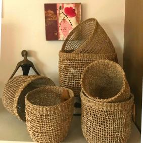 """Morgan"" Seagrass Storage Baskets Set of 6"