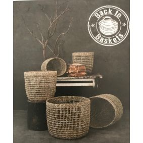 """IN STOCK! """"Morgan"""" Seagrass Storage Baskets Set of 6"""