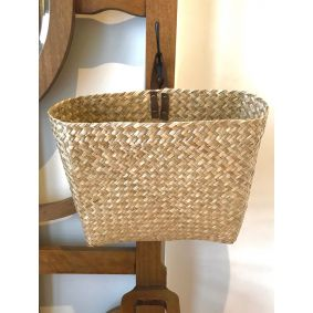 Flat Seagrass Hanging Basket