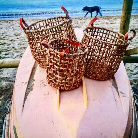 Water Hyacinth Fishermen's Baskets Set of 3