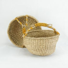 Medium & Small Round Basket Set of 2 - Many Colours
