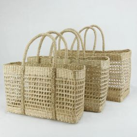 IN STOCK!! Net Seagrass Rectangle Baskets