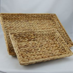 Water Hyacinth Trays in 2 sizes