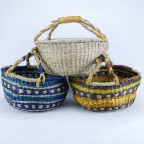 MEDIUM Round Baskets in 3 COLOURS