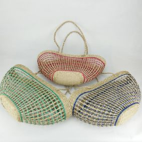 Net Half Moon bag in 3 colours, Green, Red & Blue