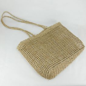 """Casey"" Open Weave Seagrass Bag"