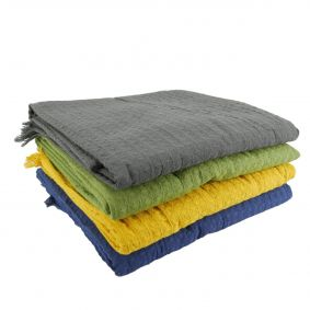 SPECIAL - Set of 4 Organic Cotton Waffle Throws
