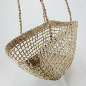 COMING SOON! Rectangle Open Weave Bucket Basket NATURAL, RED & GREEN